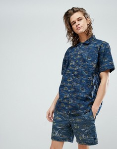 Рубашка с принтом Element - Темно-синий