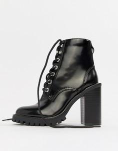 Ботинки на шнуровке ASOS DESIGN Elm - Черный