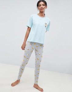 Пижамный комплект с леггинсами ASOS DESIGN Gudetama Current Mood - Мульти