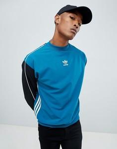 Синий свитшот с полосками adidas Originals Authentic DH3835 - Синий