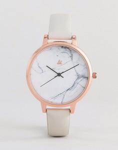 Часы с кожаным ремешком ASOS DESIGN - Серый