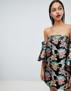 Жаккардовое платье мини ASOS DESIGN - Мульти