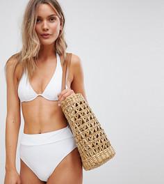 Белые плавки бикини с завышенной талией South Beach - Выбирай и комбинируй - Белый