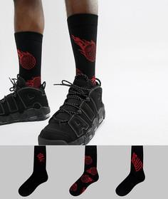 3 пары носков ASOS - Черный