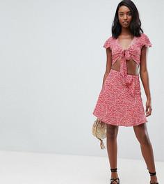 Мини-юбка с поясом Glamorous Tall - Оранжевый