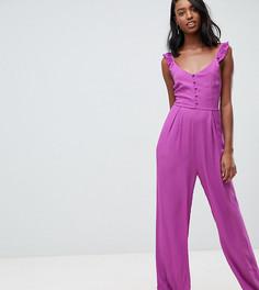 Комбинезон на бретельках с пуговицами Glamorous Tall - Фиолетовый