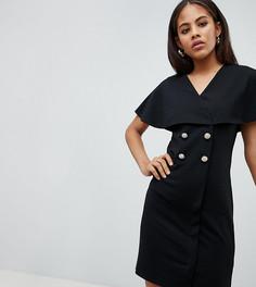 Платье мини с пуговицами ASOS DESIGN Tall - Черный
