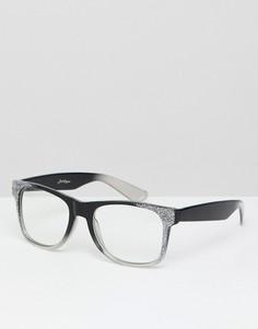 Очки с прозрачными стеклами Jeepers Peepers - Черный