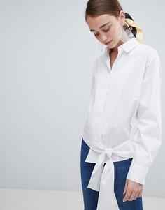 Рубашка с завязкой New Look - Белый
