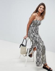 Свободное платье макси со змеиным принтом ASOS DESIGN - Мульти