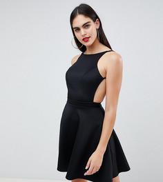 Платье с вырезом в стиле борцовки ASOS DESIGN Tall - Черный