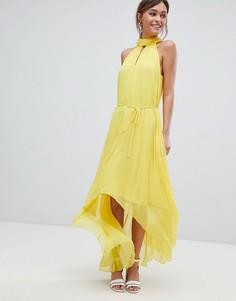 Плиссированное платье макси Ted Baker - Желтый