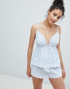Пижамный комплект в полоску New Look - Синий