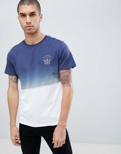 Темно-синяя футболка с эффектом деграде Burton Menswear - Темно-синий