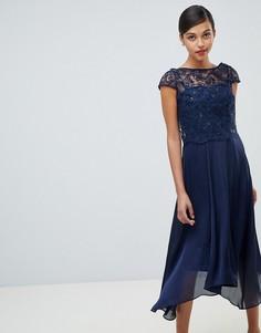 Платье миди с кружевом Coast Jade - Темно-синий