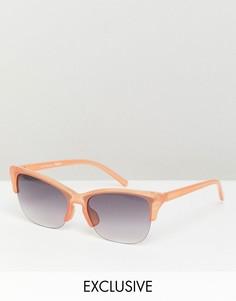 Солнцезащитные очки в стиле ретро Reclaimed Vintage Inspired - Коричневый