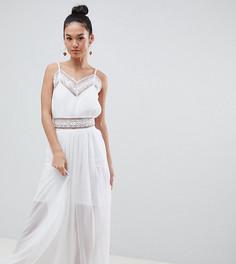 Платье макси с кружевной вставкой Boohoo - Мульти