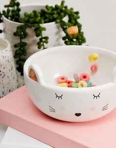 Глубокая тарелка с котом New Look - Белый