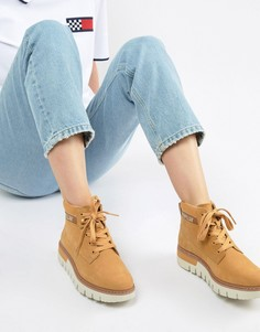Ботинки на шнуровке Caterpillar - Бежевый
