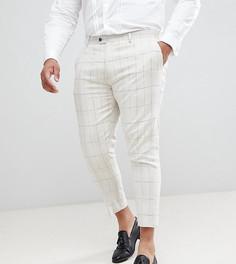 Укороченные брюки зауженного кроя в крупную клетку Gianni Feraud PLUS Wedding - Кремовый