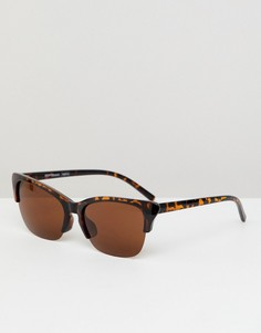 Черепаховые солнцезащитные очки в стиле ретро Reclaimed Vintage - Коричневый