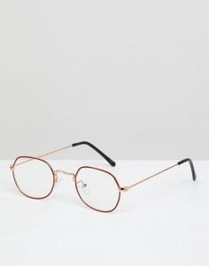 Круглые солнцезащитные очки с прозрачными линзами ASOS DESIGN - Золотой