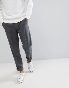 Укороченные полушерстяные брюки Farah - Серый