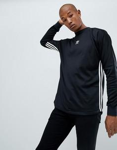 Черный лонгслив adidas Originals Authentic DJ2866 - Черный