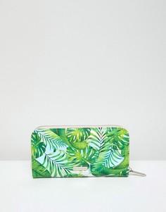 Кошелек на молнии с пальмовым принтом Skinnydip - Зеленый