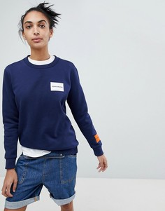 Свитшот с логотипом Calvin Klein Jeans - Синий