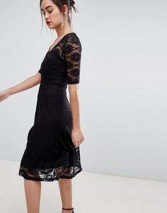 Платье миди с кружевом Sugarhill Boutique imelda - Черный