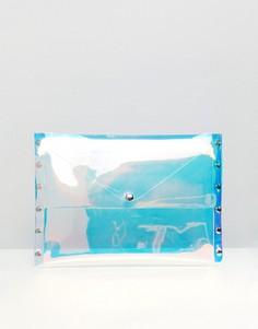 Клатч-конверт с голографической отделкой Monki - Очистить