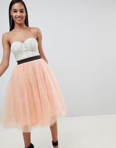 Платье миди Rare - Кремовый