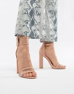 Босоножки на блочном каблуке Public Desire Mission - Розовый