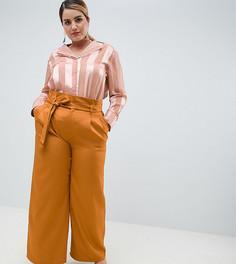 Широкие брюки с завышенной талией и поясом Unique 21 hero plus - Коричневый