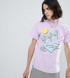 Футболка с пляжным принтом Dream But Do Not Sleep - Фиолетовый