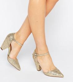 Туфли на каблуке с острым носом ASOS SPEAKER - Золотой