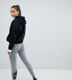 Серые леггинсы с логотипом Nike Leg A See - Серый
