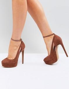 Туфли на каблуке и платформе ASOS PARTYLINE - Коричневый