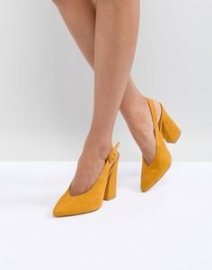 Желтые туфли на блочном каблуке RAID Brook - Желтый