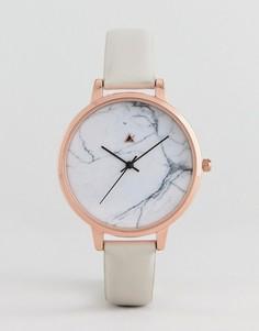 Часы с кожаным ремешком ASOS DESIGN Curve - Серый