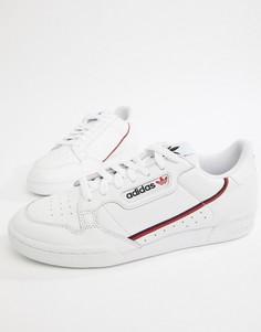 Белые кроссовки в стиле 80-х adidas Originals Continental B41674 - Белый
