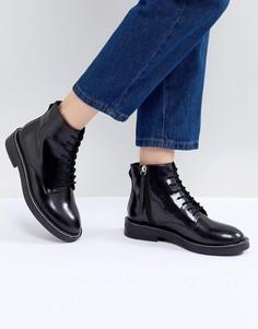 Кожаные ботинки на шнуровке ASOS DESIGN - Черный