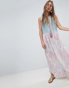 Свободное платье с ажурным верхом и отделкой пейсли Aratta - Мульти