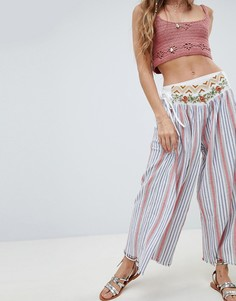 Свободные широкие брюки в полоску Aratta - Мульти