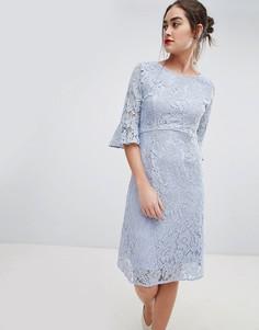 Платье миди с расклешенными рукавами Sugarhill Boutique ellie - Синий