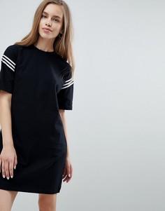 Платье-футболка с монохромной лентой ASOS DESIGN - Черный