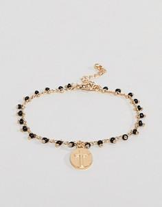 Золотистый браслет с подвеской в винтажном стиле ASOS DESIGN - Золотой