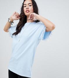 Oversize-футболка бойфренда с пайетками Rokoko - Синий
