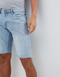 Джинсовые шорты с отворотом Jack and Jones - Синий